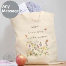 Personalised Country Diary Wild Flowers Cotton Bag P0510F30